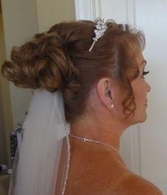 www.facebook.com/ericapstylist Bridal updo with tiara