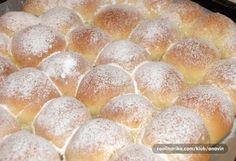 Fantastické měkké a chutné míčky/buchty/kuličky plněné marmeládou.