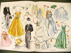 Bride/Wedding paper Dolls Betty Anderson book Retro Free shipping on 10 items | eBay