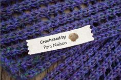 Personalized Crochet Labels-By the Sea-Shells $12.50