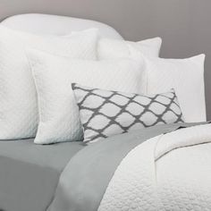 Bedroom inspiration and bedding decor | The Cloud Soft White Quilt & Sham…