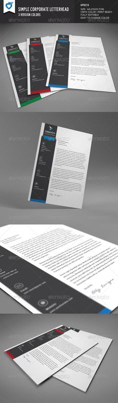 Corporate Business Letterhead - Stationery Print Templates - business letterhead