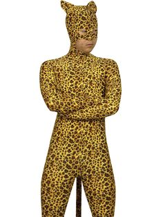 $119.24Leopard Pattern Lycra #Spandex #Zentai #Catsuit