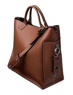 Acne Studios Hero jeans cognac Shopper bag