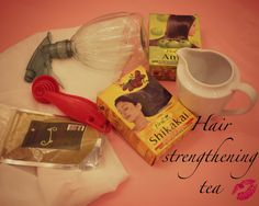 Best hair strengthening tea EVER - using Henna, Amla and Shikakai | Curly Proverbz