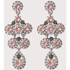 Kate Earrings ❤ liked on Polyvore featuring jewelry, earrings, rose jewelry, rose jewellery, lily jewelry, earring jewelry and silver jewellery