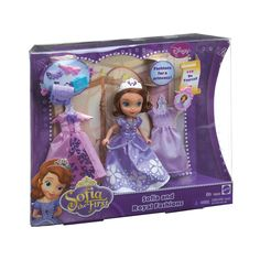 New Disney Sofia The First Royal Fash Doll Set With 3 Gowns Children Gift Toys