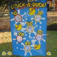 Chuck a Duck Carnival Game Set comes with extra bean bags and is a creative twist on the novelty carnival toss games kids know and love!
