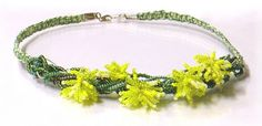 macramé wattle necklace