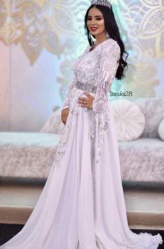 Moroccan Wedding, Moroccan Caftan, Lace Wedding, Wedding Dresses, Kaftan, Marie, Formal Dresses, Life, Fashion