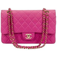 Chanel Rare Pink Double Flap 10""