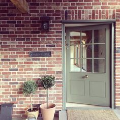 Knock knock #meadowmead #borderoak Cottage Front Doors, Cottage Door, House Doors, Brick Extension, House Extension Design, Extension Ideas, Front Door Design, Front Door Colors, Garage Lighting