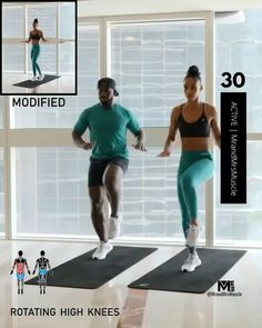 A full body HIIT workout — no equipment required Improve heart health, increase fat loss and strengthen and tone your muscles. Fitness Workouts, Hiit Workout Videos, Full Body Hiit Workout, Hiit Workout At Home, Gym Workout For Beginners, Gym Workout Tips, Fitness Workout For Women, Workout Challenge, Body Fitness
