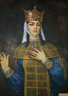 """Tamar the Great (Georgian: თამარი, transliterated T'amar or Thamar, also Tamara) (c. 1160 – 18 January 1213), was the Queen Regnant of Georgia from 1184 to 1213, who presided over the apex of the Georgian Golden Age. A member of the Bagrationi dynasty, her position as the first woman to rule Georgia in her own right was emphasized by the title mep'e (""""king""""), commonly afforded to Tamar in the medieval Georgian sources."""
