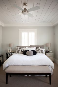 Grey exposed wood and look at on pinterest for Christine huve interior designs