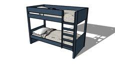 3D Model of Lit superposé enfant gris NEWPORT, Maisons du monde. Réf: 136843 Prix: 494,50 €