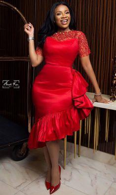 Fashion styles - Serwaa amihere dress styles for curvy women Short African Dresses, Latest African Fashion Dresses, African Print Dresses, African Print Fashion, Ankara Fashion, Africa Fashion, African Prints, African Fabric, Short Dresses