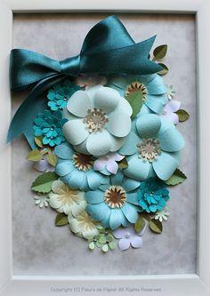 $Fleurs de Papier ~クラフトパンチや花紙で作る立体のお花いろいろ~-クラフトパンチでペーパーフラワー もっと見る