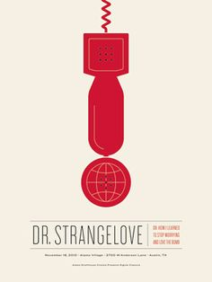 dr. strangelove alamo drafthouse poster by Jason Munn, The Small Stakes.
