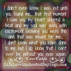 I was lost until you found me..