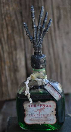 Eclectic Suzi - Amazing Spooky Soldered Bottle! #Halloween