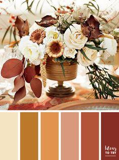 Golden leaf fall colors palette,shades of golden brown autumn color ideas,color scheme,color inspiraiton