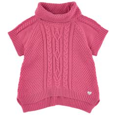 3 Pommes Roll-necked sweater with short sleeves Pink - 80980   Melijoe.com
