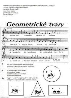geometrické tvary Shape Songs, Action Songs, School Songs, Montessori Math, Presents For Kids, Preschool Themes, Kids Songs, Portfolio, Math Games