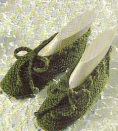 crochet ladies slippers pattern