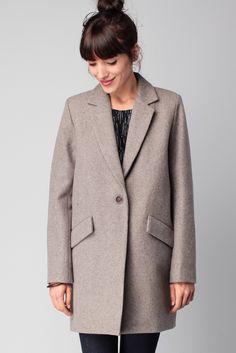 Manteau gris laine Hello Dol Gris chiné Sessun sur MonShowroom.com                                                                                                                                                     Plus