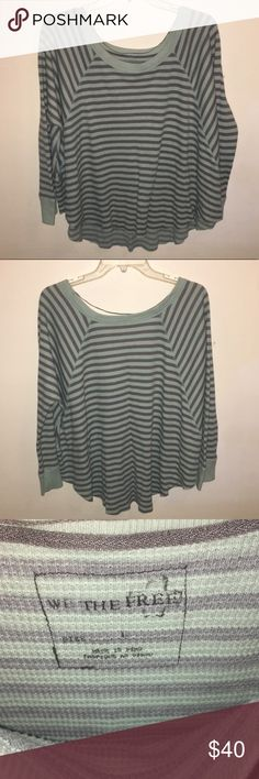 Free People Love Bug Thermal Shirt is in good condition, has been worn a few times. Free People Tops