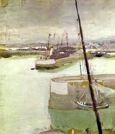 The Port of Honfleur, 1919 (oil on canvas) / Edouard Vuillard ~ETS Pierre Bonnard, Edouard Vuillard, Landscape Art, Landscape Paintings, Illustration Art, Illustrations, Nautical Art, Post Impressionism, French Art