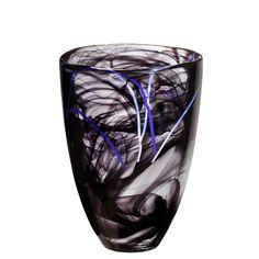 Shop This Kosta Boda Contrast Vase, Black    Newton MA