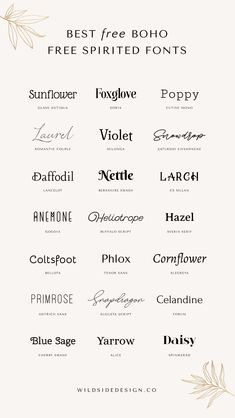 tattoo fonts I love a good down-to-earth, boho-inspired design. After the wild success of my original Free Boho Fonts post I thought Id up with a natural sequel. Typography Inspiration, Logo Design Inspiration, Typography Design, Tattoo Typography, Font Logo Design, Font Tattoo, Tattoo Quotes, Tattoo Fonts Cursive, Wedding Typography