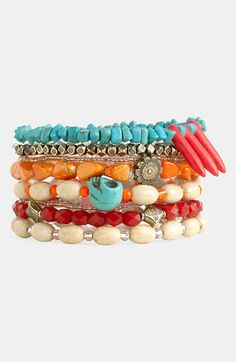 Spring Street Design Group Stretch Bracelets (Set of 8) (Nordstrom Exclusive) available at #Nordstrom