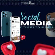 """""""Oi oi gente!!! Vamos falar um pouquinho sobre Social Media??😀 O que é 🤔: O que faz 🤔: Social…"""" #socialmedia #conteudodigital #midiassocial #marketingdigital Marketing Digital, Phone, Lets Go, Telephone, Mobile Phones"""