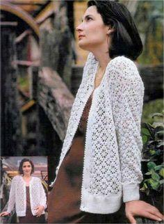Классическая кофта вязание