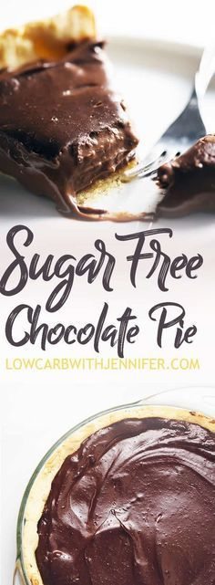 Free Chocolate Pie Silky smooth and amazing chocolate flavor makes this sugar free chocolate pie a perfect low carb dessert.Silky smooth and amazing chocolate flavor makes this sugar free chocolate pie a perfect low carb dessert. Sugar Free Deserts, Sugar Free Sweets, Low Carb Sweets, Sugar Free Recipes, Low Carb Desserts, Dessert Recipes, Diabetic Desserts Sugar Free Low Carb, Low Sugar Snacks, Pudding Desserts