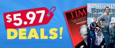 Get a great deal on magazine subscriptions! Pay just $5.97 for Woman's World, Cooking Light, Southern Living, First for Women, Sports Illustrated and more! Limited time only!
