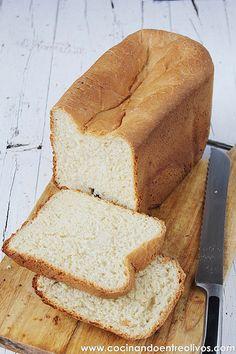 Pan de molde con panificadora www.cocinandoentreolivos.com (1) Pan Dulce, Our Daily Bread, Pan Bread, Sin Gluten, Flan, Cornbread, Banana Bread, Food And Drink, Homemade