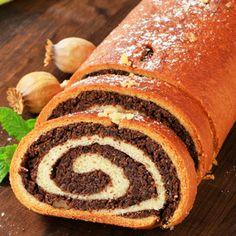 Poppy swiss roll - great for Christmas! Rolls, Bread, Cakes, Christmas, Food, Food Cakes, Yule, Meal, Bread Rolls