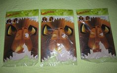 ***SOLD*** NEW Lot of 12 MADAGASCAR Alex LION Paper MASK Party Favors Birthday Fun Jungle #PartyExpress #Birthday #Madagascar #Lion #Mask