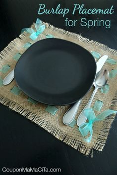 Burlap Placemat for