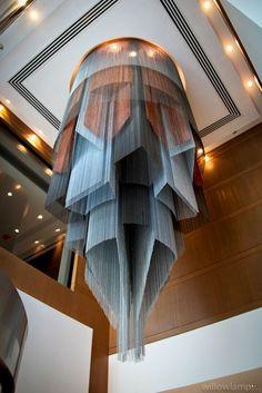 Design metal chandelier (custom made) - extruded islamic geometric chandelier…