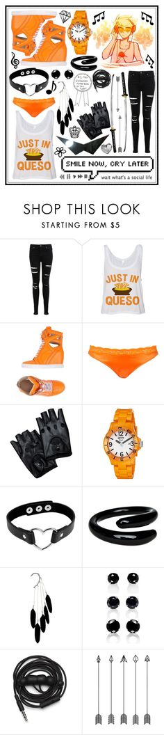 """""""Dirk Strider"""" by cupa1213 ❤ liked on Polyvore featuring Miss Selfridge, Casadei, STELLA McCARTNEY, Invicta, Idonthaveasister, Urbanears and Swarovski"""