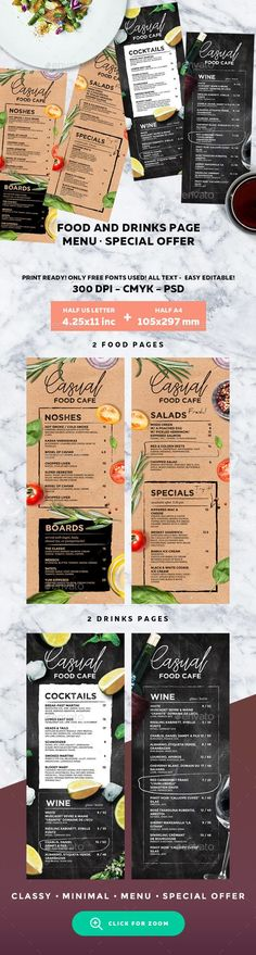 #Menu #Template - #Food Menus Print Templates Download here: https://graphicriver.net/item/menu-template/19578752?ref=alena994