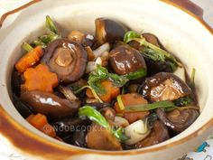 Three Cups Mushrooms Mushrooms lovers will love this vegetarian variation of the Taiwanese three cups chicken recipe using fresh shiitake mushrooms. I have leftover sweet basil leaves and decided to cook a three cups dish. Since we just had the chicken version a week ago, I made a meatless
