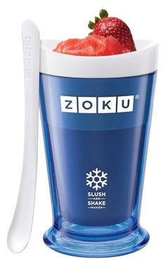 Freeze a Zoku cup to make slushies, frozen drinks, and milkshakes within seven minutes.