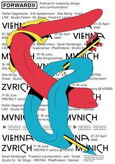 Grafikdesignstudio Zwupp entwickelt das Erscheinungsbild des Forward Festivals mit dem Thema »Birth of an idea« um.
