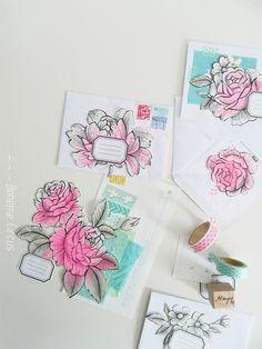 Bohème Circus: do it yourself - floral wallpaper cutouts make beautiful mail art! Envelope Lettering, Hand Lettering, Diy Paper, Paper Crafts, Mail Art Envelopes, Snail Mail Pen Pals, Art Postal, Papier Diy, Pen Pal Letters